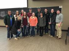 Ag Ed Majors at the Greg Petersen presentation!